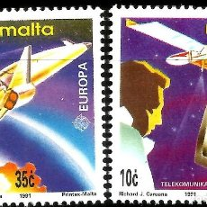 Sellos: EUROPA C.E.P.T. 1991 - EUROPA Y EL ESPACIO - MALTA. Lote 275622173