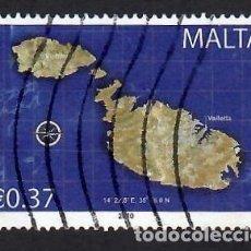 Sellos: MALTA (2010). MAPA. YVERT Nº 1587. USADO.. Lote 288105808