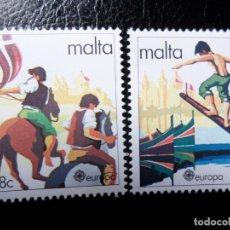 Sellos: *MALTA, 1981, EUROPA, FOLCLORE, YVERT 616/7. Lote 288106823