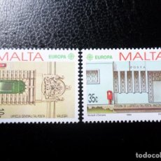 Sellos: *MALTA, 1990, EUROPA, EDIFICIOS POSTALES, YVERT 810/11. Lote 288111188