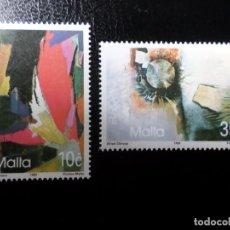 Sellos: *MALTA, 1993, EUROPA, ARTE CONTEMPORANEO, YVERT 883/4. Lote 288111378
