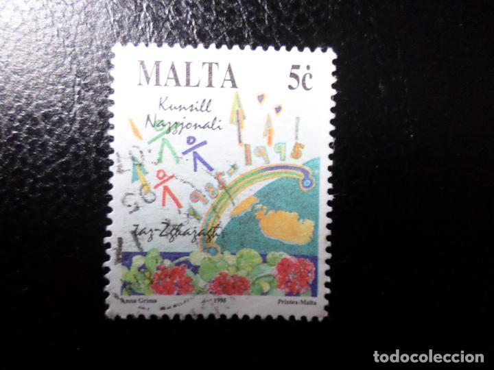 *MALTA, 1995, AÑO INTERNACIONAL DE LA JUVENTUD, YVERT 925 (Sellos - Extranjero - Europa - Malta)