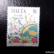 Sellos: *MALTA, 1995, AÑO INTERNACIONAL DE LA JUVENTUD, YVERT 925. Lote 288111583