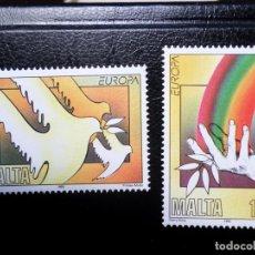 Sellos: *MALTA, 1995,EUROPA, PAZ Y LIBERTAD, YVERT 929/30. Lote 288111818