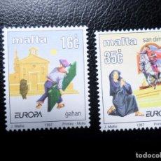 Sellos: *MALTA, 1997, EUROPA, CUENTOS Y LEYENDAS, YVERT 987/8. Lote 288111948