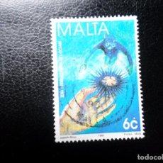 Sellos: *MALTA, 1998, AÑO INTERNACIONAL DE LOS OCEANOS, YVERT 1018. Lote 288112038