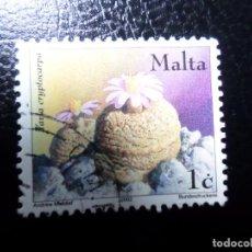 Sellos: *MALTA, 2002, FLORA, YVERT 1212. Lote 288112133