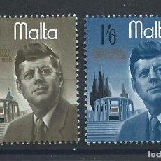 Sellos: MALTE N°344/45* (MH) 1966 - JOHN F. KENNEDY. Lote 289776358