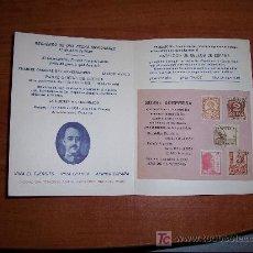 Sellos: CURIOSO FOLLETO FILATELICO DE LIBROS HACE DE SEGOVIA. Lote 7038472