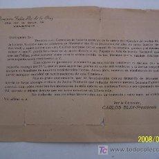 Sellos: SOBRE CARTA- COMISIÓN FALLA PIE DE LA CRUZ- VA.- OFRECIENDO PARTICIPACIÓN EN LA LOTERIA DE NAVIDAD-. Lote 20312765