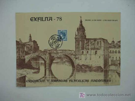 DIA DEL SELLO 1978. EXPOSICION Y JORNADAS FILATÉLICAS NACIONALES. BILBAO. (Sellos - Material Filatélico - Otros)