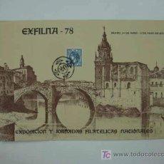 Sellos: DIA DEL SELLO 1978. EXPOSICION Y JORNADAS FILATÉLICAS NACIONALES. BILBAO.. Lote 13733837