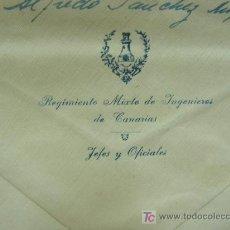 Sellos: + SOBRE DEL REGIMIENTO MIXTO INGENIEROS DE CANARIAS, JEFES Y OFICIALES. AÑO 1953,. Lote 14037877