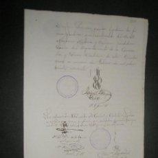 Sellos: ALBACETE. NOTARIOS. ESCRIBANOS. SELLO DEL COLEGIO NOTARIAL DE ALBACETE. AÑO1891. Lote 27445257