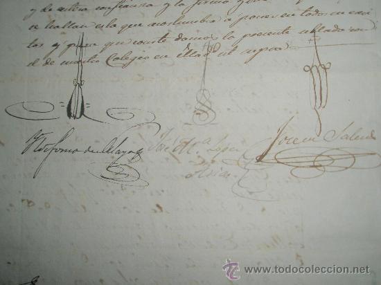 Sellos: SELLO DE ESCRIBANO Y RARO SELLO EN SECO SOBRE PAPEL TIMBRADO PAPEL FISCAL AÑO 1843 - Foto 4 - 24425143