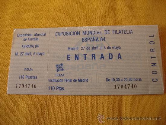 EXPOSICION MUNDIAL DE FILATELIA,ESPAÑA 84 (Sellos - Material Filatélico - Otros)