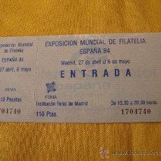 Sellos: EXPOSICION MUNDIAL DE FILATELIA,ESPAÑA 84. Lote 24501076