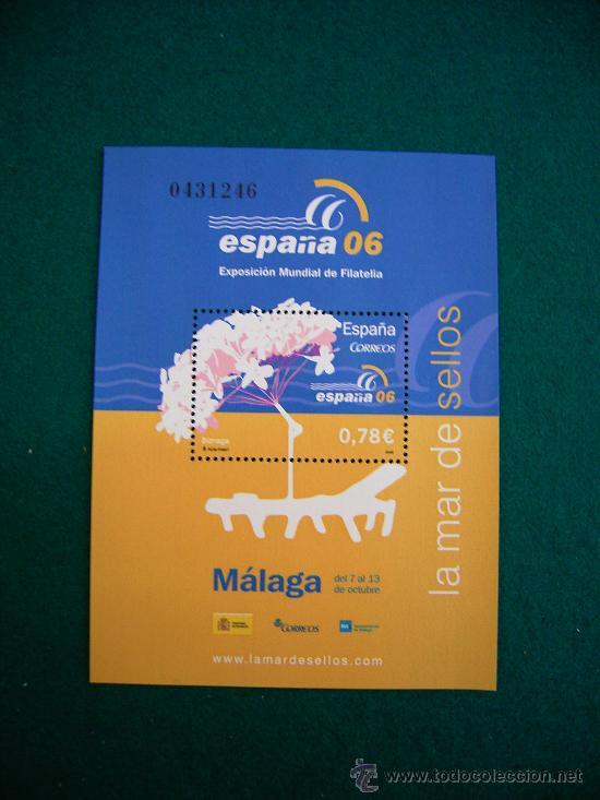 FILATELIA HOJA BLOQUE EXPOSICION MUNDIAL MALAGA 2006 (Sellos - Material Filatélico - Otros)