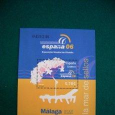 Sellos: FILATELIA HOJA BLOQUE EXPOSICION MUNDIAL MALAGA 2006. Lote 27232878