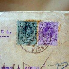 Sellos: CARTA CIRCULADA, 1921, VALENCIA SUIZA, CON SELLO DEL MERCADO DE COLON, VALENCIA. Lote 28412283