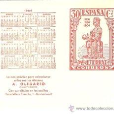 Sellos: PROGRAMA DE EMISIONES DE SELLOS PARA EL AÑO 1984. A. OLEGARIO.. Lote 28308134