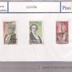 Sellos: SELLOS USADOS - SERIE COMPLETA - EMILIA PARDO BAZAN - JOSE DE ESPRONCEDA - FERNAN GONZALEZ. Lote 28753018