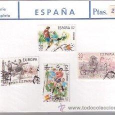 Sellos: SELLOS USADOS - SERIE COMPLETA - MUNDIAL ESPAÑA 1982 FUTBOL - ROMERIA VIRGEN DEL ROCIO HUELVA - LA J. Lote 28753138