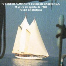 Sellos: DOCUMENTO FILATELICO IV TOFEO ALMRANTE CONDE DE BARCELONA - MATASELLOS ESPECIALES. Lote 28799299