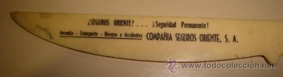 Sellos: ANTIGUO PESACARTAS Y ABRECARTAS. AÑOS 40. COMPAÑIA DE SEGUROS ORIENTE - Foto 2 - 30967286