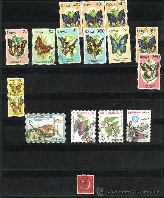 Sellos: + de 450 sellos del mundo, todos diferentes - Foto 3 - 31388152