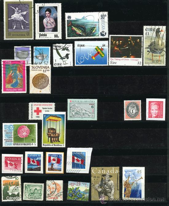 Sellos: + de 450 sellos del mundo, todos diferentes - Foto 6 - 31388152