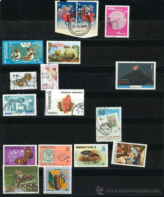 Sellos: + de 450 sellos del mundo, todos diferentes - Foto 12 - 31388152