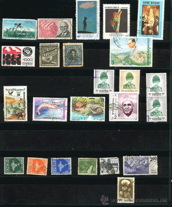 Sellos: + de 450 sellos del mundo, todos diferentes - Foto 15 - 31388152