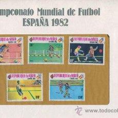 Sellos: SOBRE CON SELLOS MUNDIAL FUTBOL ESPAÑA 1982 - REPUBLIQUE DU NIGER - SERIE 5. Lote 32923915