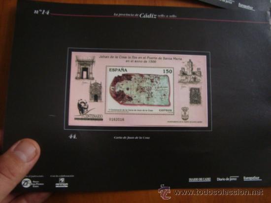 HOJA DE LA PROVINCIA DE CADIZ SELLO A SELLO, MIRAR MAS HOJILLAS EN MI PAGINA, SE PUEDEN DESMONTAR (Sellos - Material Filatélico - Otros)