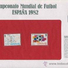 Sellos: SOBRE CON SELLOS MUNDIAL FUTBOL ESPAÑA 1982 - ESPAÑA - SERIE 29. Lote 33016226