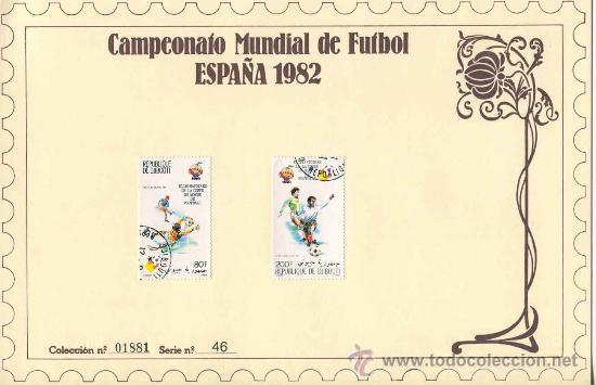 Sellos: Sobre con sellos mundial futbol españa 1982 - republique de djibouti - serie 46 - Foto 2 - 33127124