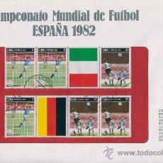 Sellos: SOBRE CON SELLOS MUNDIAL FUTBOL ESPAÑA 1982 - CUBA - SERIE 47. Lote 33127150