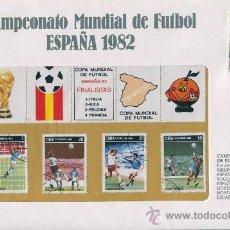 Sellos: SOBRE CON SELLOS MUNDIAL FUTBOL ESPAÑA 1982 - CUBA - SERIE 50. Lote 33127200