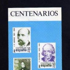 Sellos: SERVICIO FILATELICO - INFORMACION Nº 2/82 - CENTENARIOS.. Lote 33340878