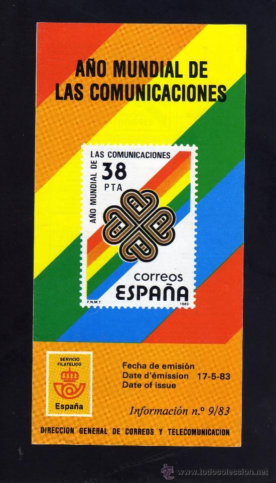 SERVICIO FILATELICO - INFORMACION Nº 9/83 - AÑO MUNDIAL DE LAS COMUNICACIONES. (Sellos - Material Filatélico - Otros)