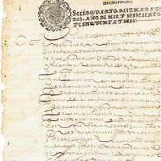 Sellos: TIMBROLOGIA.FELIPE IV.S QUARTO.10 MARAVEDIS.AÑO 1656. Lote 35146387