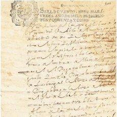 Sellos: TIMBROLOGIA.CARLOS II.S QUARTO.10 MARAVEDIS.AÑO 1688. Lote 35148192
