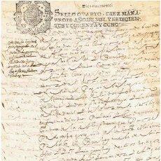 Sellos: TIMBROLOGIA.CARLOS II.S QUARTO.10 MARAVEDIS.AÑO 1688. Lote 35148466