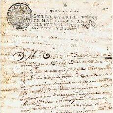Sellos: TIMBROLOGIA.FERNANDO VI.S QUARTO.20 MARAVEDI.AÑO 1752. Lote 35243241