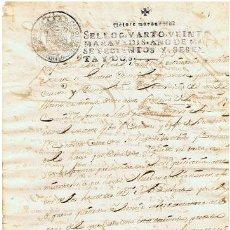 Sellos: TIMBROLOGIA.CARLOS III.S QUARTO.20 MARAVEDI.AÑO 1762. Lote 35243921