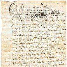 Sellos: TIMBROLOGIA.CARLOS III.S QUARTO.20 MARAVEDIS.AÑO 1763. Lote 35244080