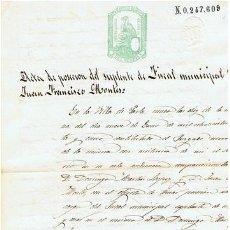 Sellos: TIMBROLOGIA.ALFONSO XII.SELLO 10º.1 PTA.AÑO 1875. Lote 35305051