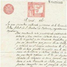 Sellos: TIMBROLOGIA.ALFONSO XIII.SELLO 11º.1 PTA.AÑO 1892. Lote 35305363