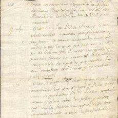 Sellos: TIMBROLOGIA.1750. FILIGRANA (MARCA DE AGUA - WATERMARKING): ESCUDO CON FLOR. Lote 35401284